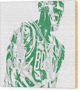 Kyrie Irving Boston Celtics Pixel Art 42 Wood Print