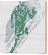 Kyrie Irving Boston Celtics Water Color Art 4 Wood Print