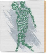 Kyrie Irving Boston Celtics Water Color Art Wood Print