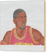Kyrie Irving Wood Print by Toni Jaso