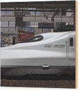Kyushu Bullet Train Locomotive Wood Print