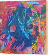 L A  G A R G O L A Wood Print by Azul Fam