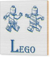 L Is For Lego Wood Print