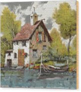 La Barca Wood Print