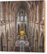 La Basilica Quito Wood Print