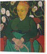 La Berceuse. Woman Rocking A Cradle. Augustine-alix Pellicot Roulin Wood Print