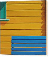 La Boca Street Scene 33 Wood Print