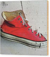 The Artists Boot Wood Print