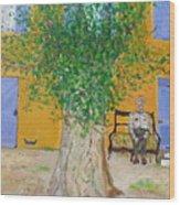La Campagne Argent De Oncle Charles. Wood Print