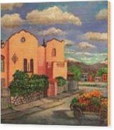 La Casa De Mi Amiga Olga Wood Print