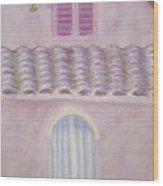 La Casa Rosa Lunga Il Treve Wood Print