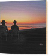 la Casita Playa Hermosa Puntarenas Costa Rica - Sunset Happy Couple Wood Print
