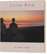 la Casita Playa Hermosa Puntarenas Costa Rica - Sunset Happy Couple Panorama Greeting Card Soft Wood Print
