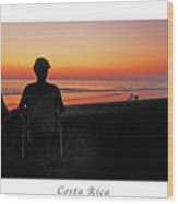 la Casita Playa Hermosa Puntarenas Costa Rica - Sunset Happy Couple Panorama Poster Wood Print