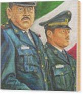 La Ceremonia De La Bandera Wood Print