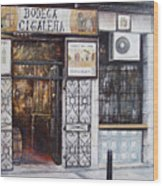 La Cigalena Old Restaurant Wood Print by Tomas Castano
