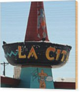 La Cita In Tucumcari On Route 66 Nm Wood Print
