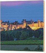 La Cite Carcassonne Wood Print by Brian Jannsen
