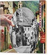 La Comacina Ristorante-colonno, Ital Wood Print