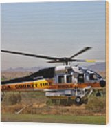 La County Fire Air Support Wood Print
