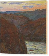 La Creuse, Sunset Wood Print