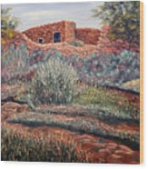 La Cueva New Mexico Wood Print