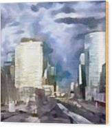 Paris La Defense Wood Print