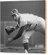 L.a. Dodgers Pitcher Sandy Koufax, 1965 Wood Print