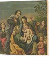 La Familia Con Los Santos Juanes Wood Print