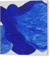 La Famille Bleue Wood Print