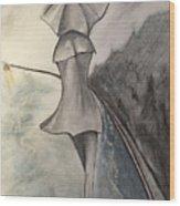 La Femme Au Parapluie Wood Print