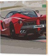 La Ferrari - Rear View Wood Print