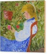 La Fleuriste Wood Print
