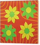La Flor De La Vida Wood Print