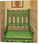 La Fonda Bench Wood Print