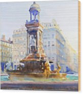 La Fontaine Des Jacobins Wood Print