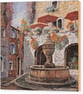 la fontana a St Paul de Vence Wood Print
