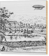 La France Airship, 1884 Wood Print