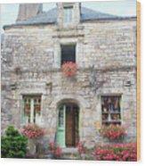La Gacilly, Morbihan, Brittany, France, Shop Wood Print