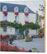 La Gacilly, Morbihan, Brittany, France, Town Hall Painting Wood Print