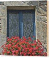 La Gacilly, Morbihan, Brittany, France, Window Wood Print