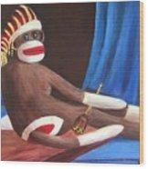 La Grande Sock Monkey Wood Print