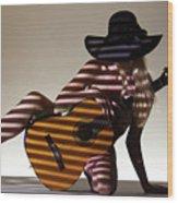 La Guitarista 2 Wood Print