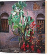 La Hacienda In Old Tuscon Az Wood Print by Susanne Van Hulst