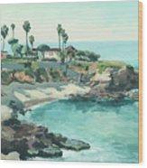 La Jolla Cove In December, La Jolla, San Diego, California Wood Print