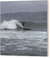 La Jolla Cove Surf Wood Print