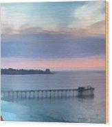 La Jolla Scripps Pier Wood Print by Russ Harris