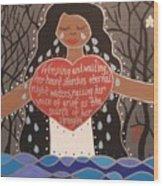 La Llorona Wood Print