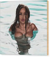La Llorona Wood Print by Pete Tapang
