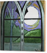 La Luna Wood Print
